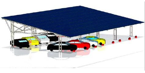 Solar Carport - Double Rows (Middle lane)